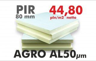Płyta PIR AGRO 80 aluminium chlewnia kurnik obora