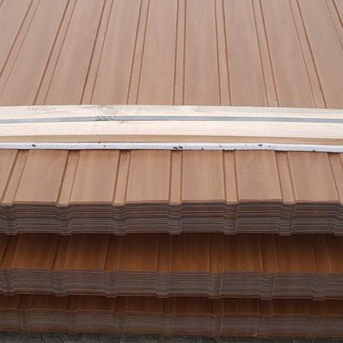 Tania blacha drewnopodobna podbitka dachowa dąb orzech