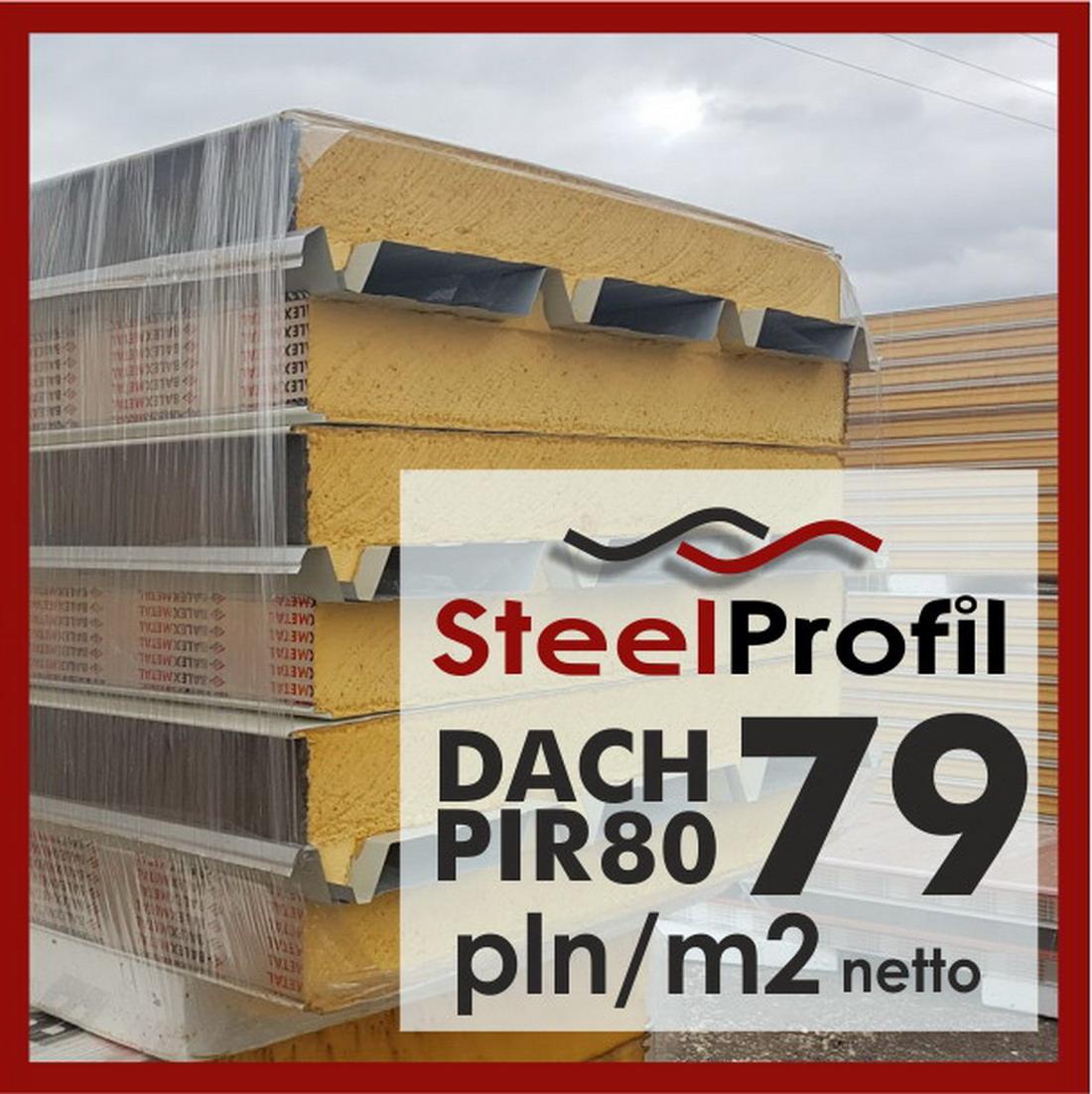 Poliuretan PIR 80 Mm / 8 Cm Dachowa