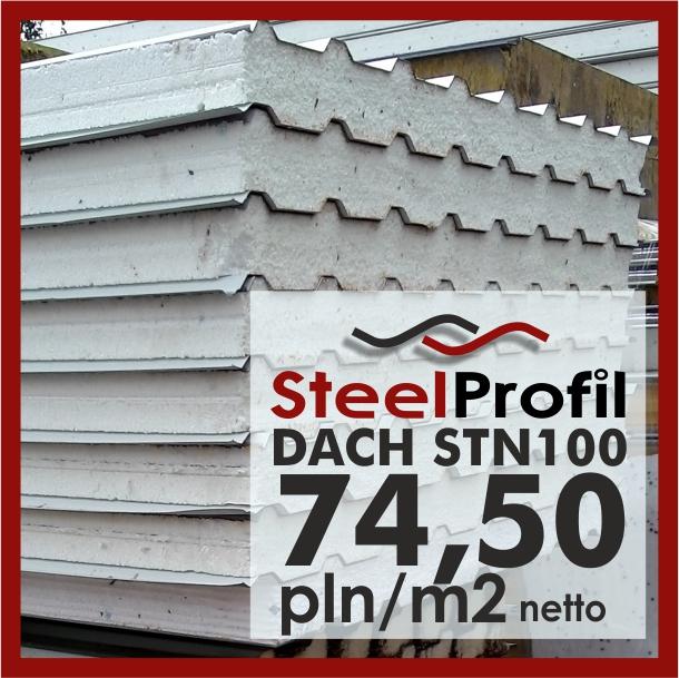 Tanie Płyty Warstwowe Obornickie Stropian Dach 100mm