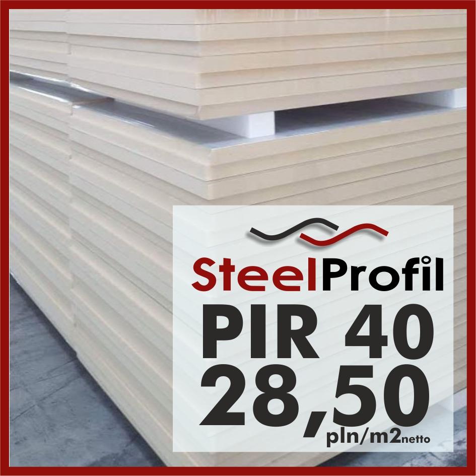 Plyty PIR 40 izolacja poliuretanowa