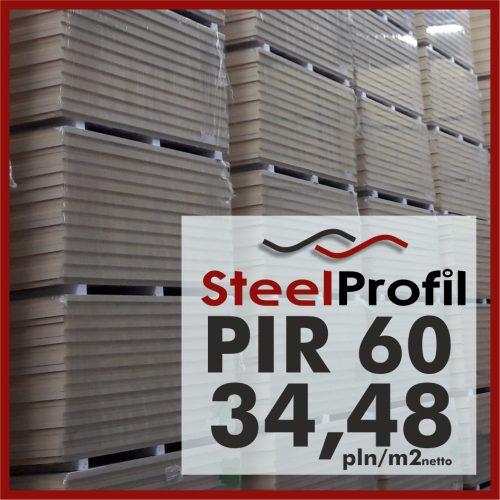 Plyty PIR 60 pianka poliuretanowa