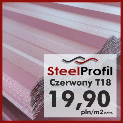 Tania Blacha Trapezowa T18 Czerwony