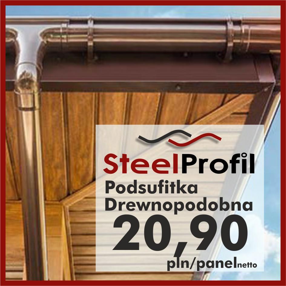 Podsufitka podbitka dachowa drewnopodobna metalowa lepsza niż pcv