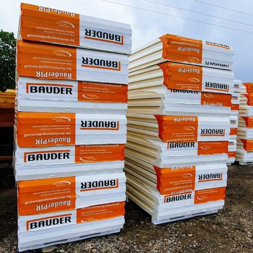 Płyty PIR BAUDER obustronne aluminium AGRO