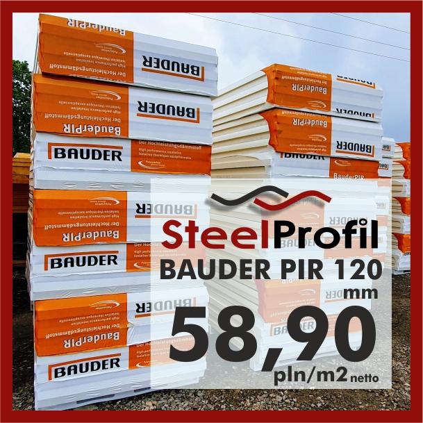 Bauder PIR plyty poliuretanowe aluminium 120mmminium 120mm