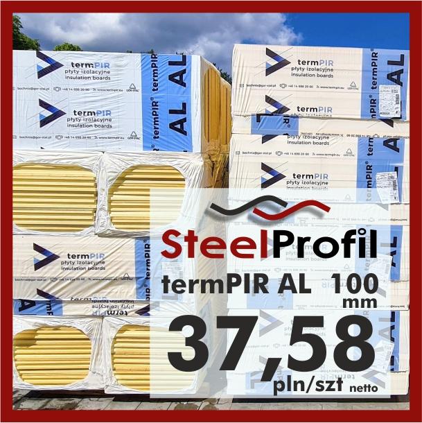 Płyta PIR termPIR AL Izoproof 100mm poliuretanowa pianka