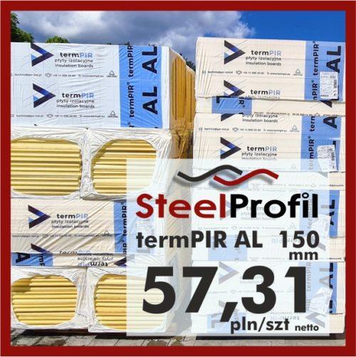 Płyta PIR termPIR AL Izoproof 150mm poliuretanowa pianka 5731