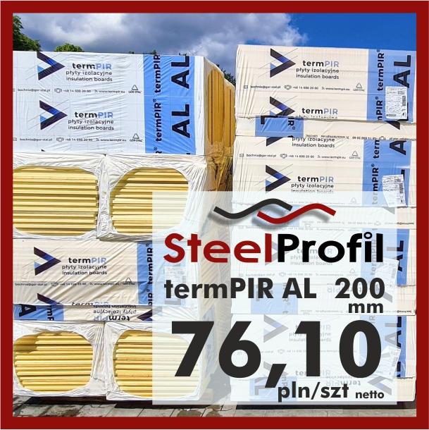 Płyta PIR termPIR AL Izoproof 200mm poliuretanowa pianka 7610