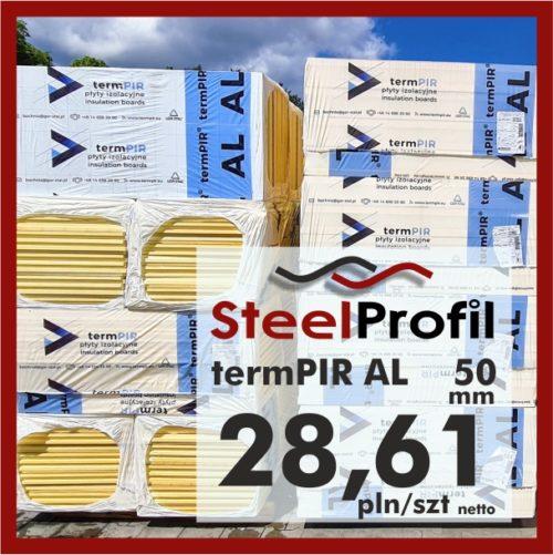 Płyta PIR termPIR AL Izoproof 50mm poliuretanowa pianka 2861