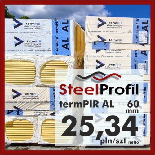 Płyta PIR termPIR AL Izoproof 60mm poliuretanowa pianka