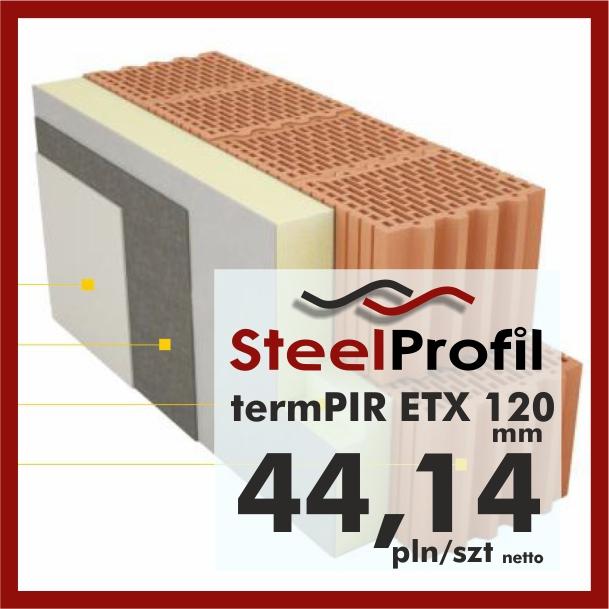 Płyty PIR ETICS termPIR ETX 120mm poliuretan z siatką pod tynkowanie