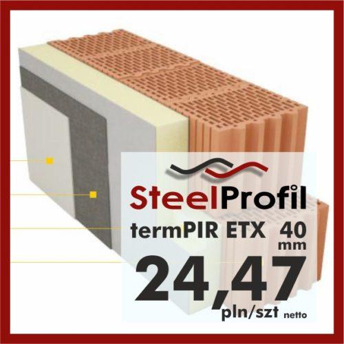 Płyty PIR ETICS termPIR ETX 40 mm poliuretan z welonem na klej pod tynk