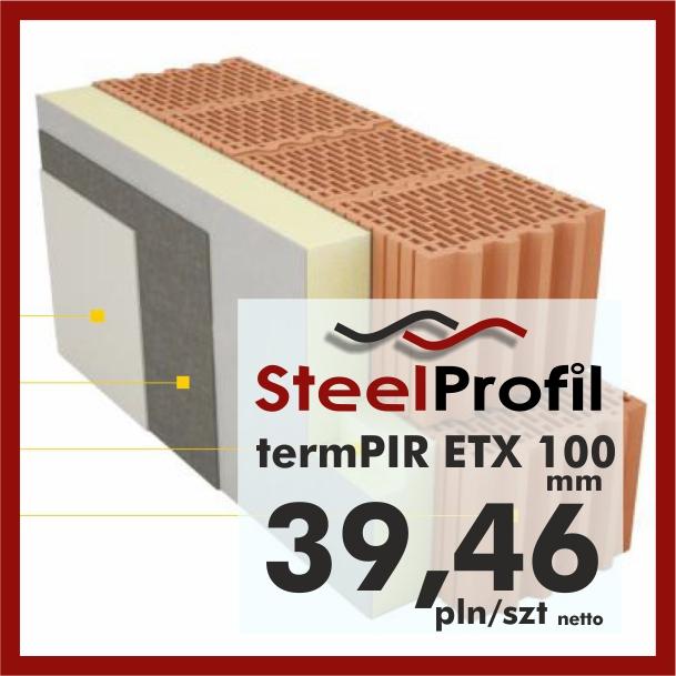 PIR ETICS termPIR ETX 100mm welon szklany pod tynk