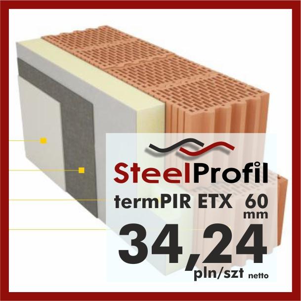 PIR ETICS termPIR ETX 60mm izolacja elewacji 3424