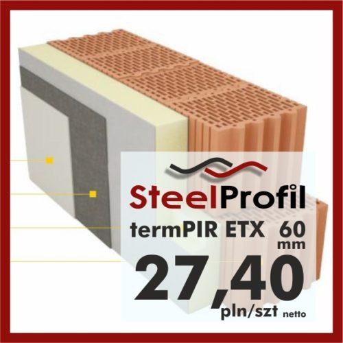 PIR ETICS termPIR ETX 60mm pod klej i tynk na elewację
