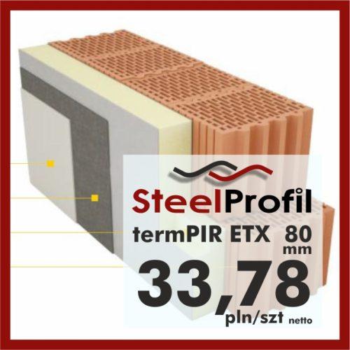 PIR ETICS termPIR ETX 80mm welon szklany
