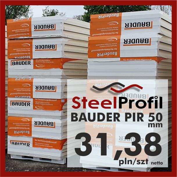 Bauder PIR FA TE plyty poliuretanowe aluminium 50mm TANIO