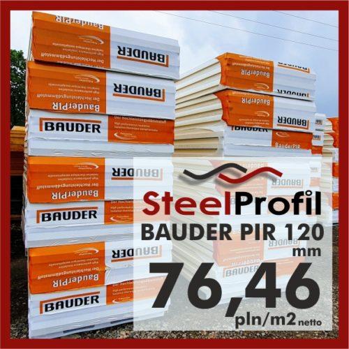 Bauder PIR plyty poliuretanowe aluminium 120mm 7646_1