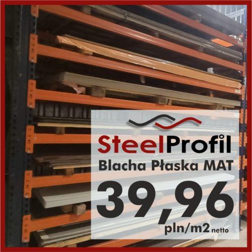 Tania Blacha Płaska BPA 7016 9005 8017 MAT