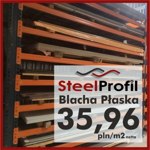 Tania Blacha Płaska BPA 7016 Polysk